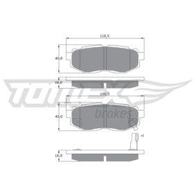 Bremsbelagsatz, Scheibenbremse TX 17-66 IMPREZA Schrägheck (GR, GH, G3) 2.5 WRX STI AWD (GRF) Bj 2013