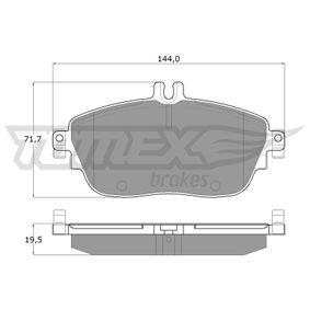 2012 Mercedes W176 A 200 1.6 (176.043) Brake Pad Set, disc brake TX 18-06