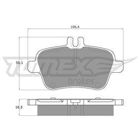 2014 Mercedes W176 A 200 1.6 (176.043) Brake Pad Set, disc brake TX 18-08