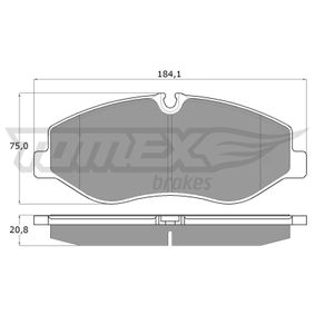 Bremsbelagsatz, Scheibenbremse Breite: 184,1mm, Höhe: 75mm, Dicke/Stärke: 20,8mm mit OEM-Nummer 447 420 0220