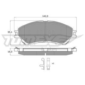 Bremsbelagsatz, Scheibenbremse Höhe: 55,1mm, Dicke/Stärke: 16mm mit OEM-Nummer 55810-61M00