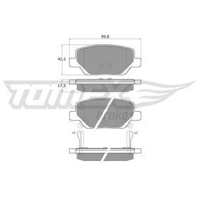 Bremsbelagsatz, Scheibenbremse Breite: 99,8mm, Höhe: 42,2mm, Dicke/Stärke: 17,5mm mit OEM-Nummer 77367717(-)
