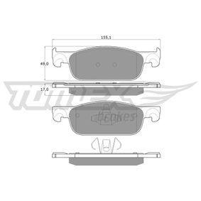 Bremsbelagsatz, Scheibenbremse Höhe: 49mm, Dicke/Stärke: 17mm mit OEM-Nummer 4106 055 36R
