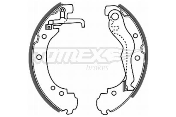 TOMEX brakes  TX 20-47 Bremsbackensatz Breite: 56mm