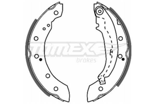 TOMEX brakes  TX 20-72 Bremsbackensatz Breite: 38mm