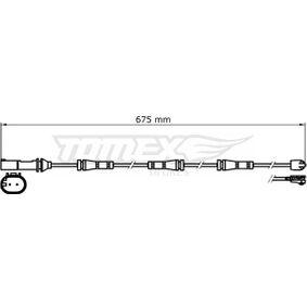 Warnkontakt, Bremsbelagverschleiß Warnkontaktlänge: 675mm mit OEM-Nummer 343 567 922 89