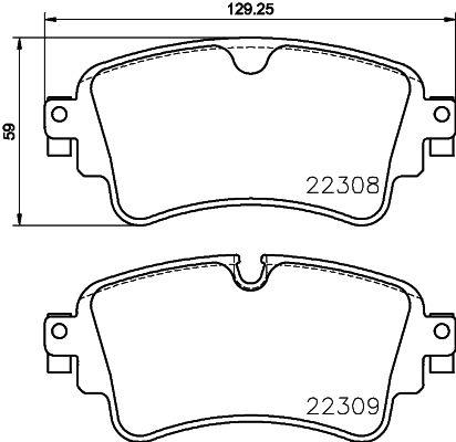 Brake Pads 8DB 355 024-791 HELLA 9126D1898 original quality