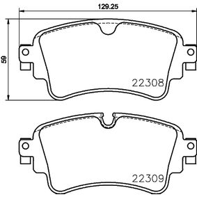 Brake Pad Set, disc brake Width: 129,2mm, Height: 59mm, Thickness: 17,5mm with OEM Number 8W0698451K