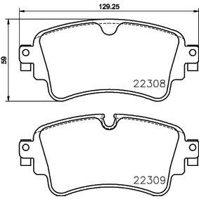 Kit de plaquettes de frein, frein à disque Largeur: 129,25mm, Hauteur: 59,0mm, Épaisseur: 17,5mm avec OEM numéro 8W0 698 451 N