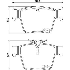 Bremsbelagsatz, Scheibenbremse Breite: 122,5mm, Höhe: 63,9mm, Dicke/Stärke: 16,1mm mit OEM-Nummer A000 420 59 00