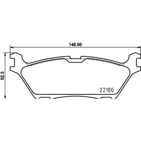 HELLA  8DB 355 025-731 Bremsbelagsatz, Scheibenbremse Breite: 148,95mm, Höhe: 52,3mm, Dicke/Stärke: 17,8mm