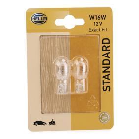 Bulb 12V 16W, W16W, W2,1x9 8GA 008 246-003 FORD FOCUS, FIESTA, MONDEO