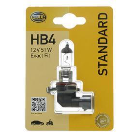 Крушка с нагреваема жичка, фар за дълги светлини HB4, 51ват, 12волт 8GH 005 636-128 VW GOLF, PASSAT, POLO