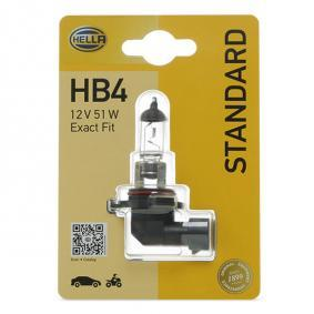 Bulb, spotlight HB4, 51W, 12V 8GH 005 636-128 BMW 3 Series, 5 Series, X3