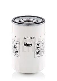 MANN-FILTER  W 1150/9 Ölfilter Ø: 108mm, Außendurchmesser 2: 103mm, Innendurchmesser 2: 93mm, Innendurchmesser 2: 93mm, Höhe: 170mm