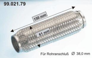 EBERSPÄCHER  99.021.79 Flexrohr, Abgasanlage Länge: 150mm, Innendurchmesser: 40mm