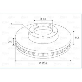 Brake Disc Brake Disc Thickness: 29,3mm, Rim: 5-Hole, Ø: 344,7mm with OEM Number 8K0 615 301 K
