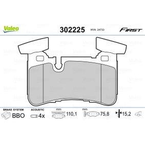 Brake Pad Set, disc brake 302225 E-Class Saloon (W212) E 63 AMG 5.5 4-matic (212.092) MY 2016