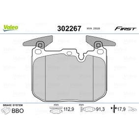 Brake Pad Set, disc brake 302267 3 Saloon (F30, F80) 335i 3.0 MY 2011