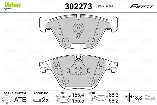 Bremsbeläge 302273 VALEO 302273 in Original Qualität
