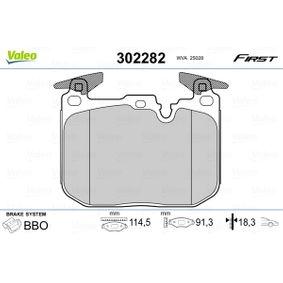 Brake Pad Set, disc brake 302282 3 Saloon (F30, F80) 335i 3.0 MY 2014