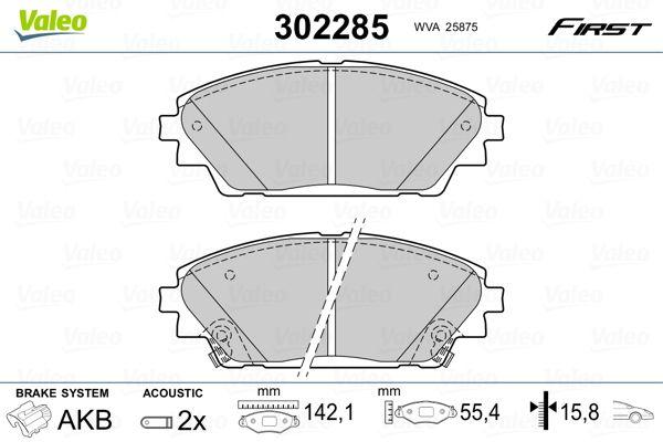 Brake Pads 302285 VALEO 302285 original quality