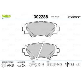 2012 Mazda 3 BL 1.6 MZR Brake Pad Set, disc brake 302288