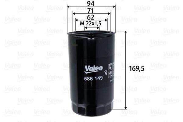Motorölfilter 586149 VALEO 586149 in Original Qualität