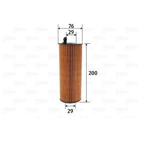 Oil Filter Ø: 76mm, Inner Diameter 2: 29mm, Inner Diameter 2: 29mm, Height: 200mm with OEM Number 57 115 561 L
