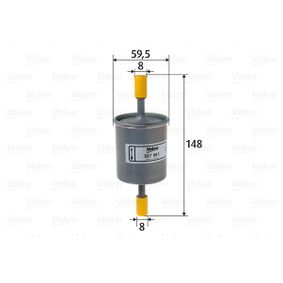 Filtro combustible 587061 KALOS 1.4 16V ac 2006