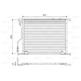 Kondensator, Klimaanlage mit OEM-Nummer 220 500 08 54