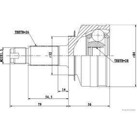 Каре комплект, полуоска J2824039 Jazz 2 (GD_, GE3, GE2) 1.2 i-DSI (GD5, GE2) Г.П. 2005