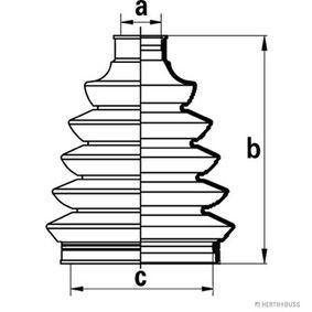 Faltenbalgsatz, Antriebswelle Höhe: 103mm, Innendurchmesser 2: 20mm, Innendurchmesser 2: 70mm mit OEM-Nummer 4411883E50