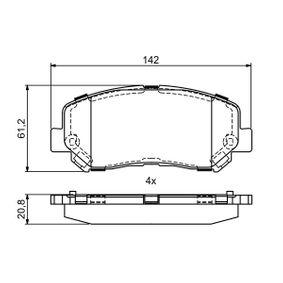 Bremsbelagsatz, Scheibenbremse Breite: 142mm, Höhe: 61,2mm, Dicke/Stärke: 20,8mm mit OEM-Nummer 25564 BOSCH