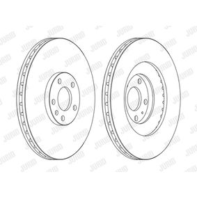 JURID  562389JC-1 Bremsscheibe Bremsscheibendicke: 30mm, Lochanzahl: 5, Ø: 345mm