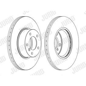 JURID  562618JC-1 Bremsscheibe Bremsscheibendicke: 24mm, Lochanzahl: 5, Ø: 312mm