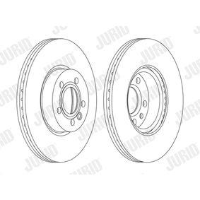 JURID  562626JC-1 Bremsscheibe Bremsscheibendicke: 26mm, Lochanzahl: 5, Ø: 313mm