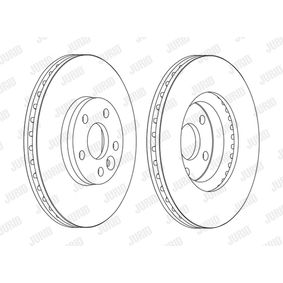 Bremsscheibe Bremsscheibendicke: 28mm, Lochanzahl: 5, Ø: 300mm mit OEM-Nummer 7G91-1125BA