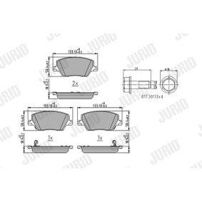 Bremsbelagsatz, Scheibenbremse Höhe 1: 57mm, Dicke/Stärke: 18,4mm mit OEM-Nummer 7 736 836 8