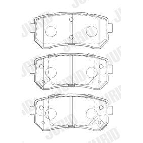 Brake Pad Set, disc brake 573757J CEE'D Hatchback (ED) 1.6 CRDi 115 MY 2011