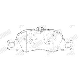 JURID  573804J Kit de plaquettes de frein, frein à disque Hauteur 1: 73,9mm, Épaisseur: 17,5mm