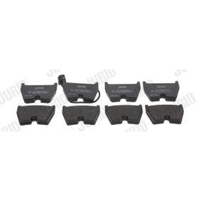 Kit de plaquettes de frein, frein à disque Hauteur 1: 74,4mm, Épaisseur: 16,7mm avec OEM numéro 8U0 698 151J