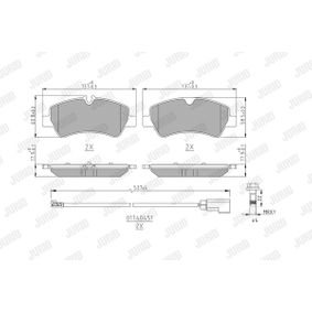 JURID  573835J Kit de plaquettes de frein, frein à disque Hauteur 1: 60mm, Hauteur 2: 58mm, Épaisseur: 17,6mm
