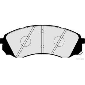 Bremsbelagsatz, Scheibenbremse Breite 2: 62,9mm, Dicke/Stärke 2: 17,6mm mit OEM-Nummer 581014DE00