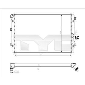 Kühler, Motorkühlung Netzmaße: 650x433x32 [mm] mit OEM-Nummer 1K0.121.251DD