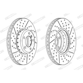 Brake Disc Brake Disc Thickness: 30mm, Num. of holes: 5, Ø: 340mm with OEM Number 34 11 6 797 602