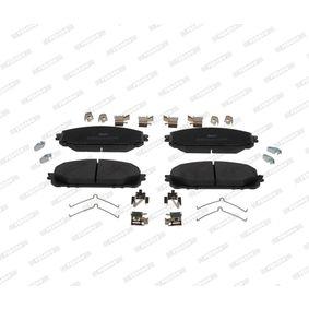 Bremsbelagsatz, Scheibenbremse Höhe 1: 61,8mm, Dicke/Stärke: 18,7mm mit OEM-Nummer 6821 2327AB