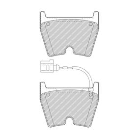 Brake Pad Set, disc brake Height 1: 74mm, Thickness: 16,7mm with OEM Number 8U0698151J