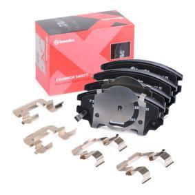 Bremsbelagsatz, Scheibenbremse Breite: 142,1mm, Höhe: 61,7mm, Dicke/Stärke: 19,1mm mit OEM-Nummer 95520061