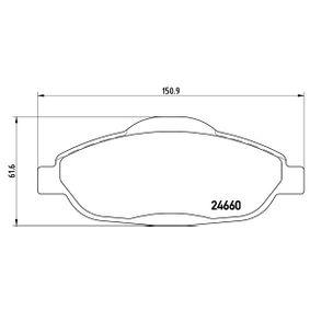 2016 Peugeot 3008 Mk1 1.2 Brake Pad Set, disc brake P 61 101X